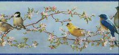 HTM48511B Blue Songbird Wallpaper Border - Wallpaper & Border | Wallpaper-inc.com