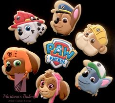 Paw Patrol Sugar Cookies From Paw Patrol Birthday Party