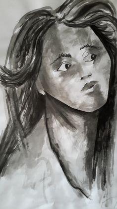 - /  Rosalía M. Aba - - Ros Maba - - Tinta con Pincel -