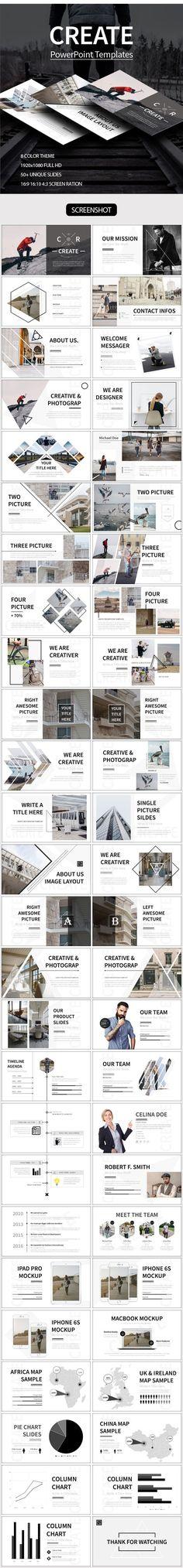 CREATE Powerpoint Template - Creative PowerPoint Templates #infografias #infographic