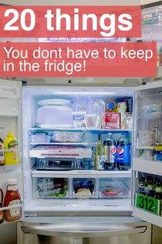 Make some room in your fridge by storing these room temperature-happy items in the pantry.