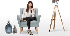 Quentin, un fauteuil, bleu polaire | made.com