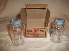 Ball Jar 1930's Salt and Pepper Shakers from littlebitofeverything on Ruby Lane