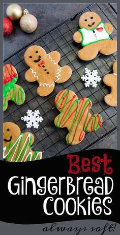 This gingerbread recipe is easy and gives you nice and soft, delicious gingerbread man cookies every single time! This recipe is naturally low in sugar, high in taste plus they look amazing decorate. This is our families best Ch Best Gingerbread Cookie Recipe, Gingerbread Man Cookies, Best Christmas Cookies, Christmas Baking, Christmas Ideas, Xmas Cookies, Christmas Activities, Christmas 2017, Christmas Recipes