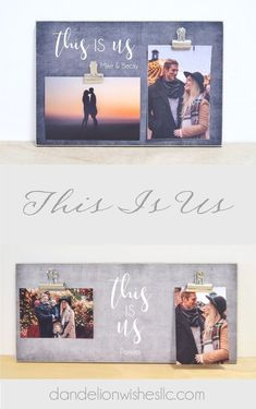 "For a special occasion or just because, this cute ""This Is Us"" frame is designed to showcase those special memories that make you who you are!Great gift idea for a family or housewarming gift, Makes a cute couples gift for anniversary, wedding, engagement Special Wedding Gifts, Bridal Gifts, Cute Couple Gifts, Gifts For Mom, Mother And Father, Father Of The Bride, Anniversary Gifts For Husband, Anniversary Ideas, Clip Frame"