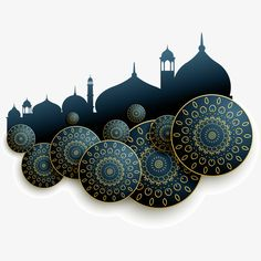Exquisite Islamic architecture abstract vector illustration, Deep Blue, Islam, Pattern PNG and Vector What's Art Cultural Architecture, Islamic Architecture, Framed Wallpaper, Islamic Wallpaper, Poster Background Design, Background Patterns, Islamic Art Pattern, Pattern Art, Wallpaper Ramadhan
