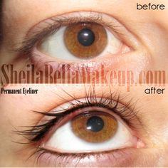 Check out this natural eyeliner!! #permanentmakeup