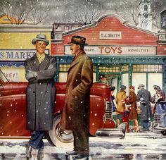Hangin' by the Toy Store, art by Slayton Underhill.
