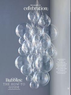 Bubble chandelier from Martha Stewart Living