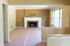 4 Fascinating Clever Tips: Concrete Fireplace Shape wooden fireplace remodel. Built In Around Fireplace, Tv Over Fireplace, Wooden Fireplace, Fireplace Update, Brick Fireplace Makeover, Fireplace Shelves, Fireplace Built Ins, Freestanding Fireplace, Limestone Fireplace