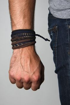 Bohemian Mens Bracelet Mens Burning Men Bracelet for Men Wrap Bracelet Cuff Bracelet Festival Burning Gear Festival Man Bracelet Brown Blue Braided Bracelets, Bracelets For Men, Cuff Bracelets, Buddha Armband, Bracelet Wrap, Bracelet Men, Boyfriend Bracelet, Festival Bracelets, Style Masculin