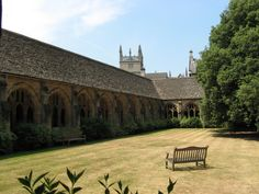 Inspiration for town and church and stonework. (Original image of New College Courtyard.)