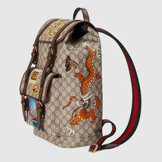 867ea3153d3767 Gucci Gucci Courrier soft GG Supreme backpack Detail 2 Vintage Gucci, Gucci  Gucci, Gucci