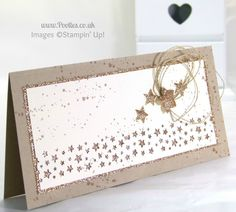Stampin' Up! UK Demonstrator Pootles - Gorgeously Grungy Starry Card