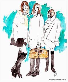 Proenza Schouler fashion illustration fall 2012 by Jennifer Purcell