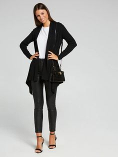 Knitwear & Cardigans for Women - Cardigans, Sweaters & Cloud Dancer, Roll Neck, Cardigans For Women, Navy And White, Knitwear, Jumper, Indie, Black Jeans, Blazer