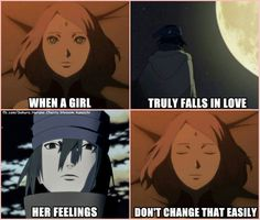 """When a girl truly falls in love her feelings don't change that easily"" - Sakura Haruno in The Last: Naruto the Novie"