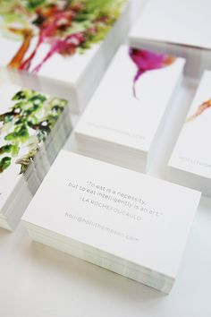 Watercolor Veggies for Holli Thompson branding :Client: Holli ThompsonCreative Direction: Jennifer Elsner, Viewers Like YouPhoto: Chelsea Fullerton, Go Forth Creative Logo Design, Graphic Design Branding, Corporate Design, Identity Design, Corporate Identity, Identity Branding, Brochure Design, Visual Identity, Design Design