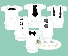Baby Shower DIY Applique Onesie Templates for a Boy Baby Shower (instant PDF…