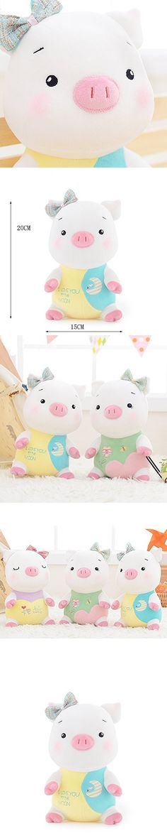 "Me Too Dudu Piggy Stuffed Dolls ""I Love U To The Moon"" Embroidery Kids Baby Plush Toys 8'' New Year Christmas Gifts"