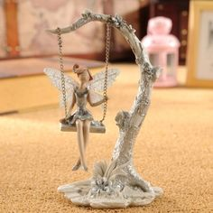 Christmas home accessories Europe Countryside style resin crafts handmade Art Craft home decoration&gift flower fairy figurine Fairy Figurines, Miniature Figurines, Decor Crafts, Home Crafts, Craft Iron, Fairy Birthday, Art And Craft, Flower Fairies, Angel Ornaments