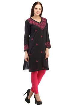 We are manufacture and exporters of latest designs in Chikankari Tops,  Chikan kurtis,, Hand embroidery only.     	Indiankala4u Size Chart (All measurements are in inches.)  Size	      	   XS 	           S	      	 M	L	XL	XXL    Bust		34-36		36 – 38	40	42	44	46-48    Waist	            31-33		33-35	             37	39	40	42  	  Wash Care Instructions  o	Warm wash under 30 C  o	Do not bleach  o	Do not dry clean  o	Do not tumble dry  o	Dry Flat in shade  o	Warm Iron  o	Do not wring    The word…