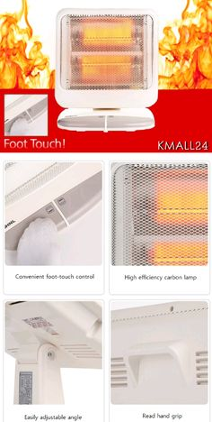 [SHINIL] Foot-touch type carbon heater #convenience #home #korean