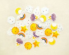 Cute Calender Weather Planner Stickers Kawaii