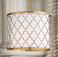 """Gold Patterned Pendent Fixture $713.00 (USD)  22""""D"""