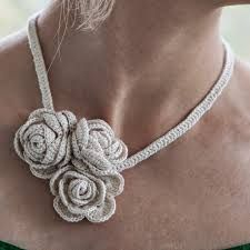 Resultado de imagen para floral crochet necklace