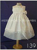 Ropa para Bebés y Niños de Alta Costura Artesanal. Marca Andrea Moneta Per Bambini. Vestidos y Trajes de Bautizo, Fiesta y Boda. Ropa Casual.