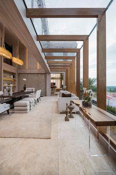 Residência Entreverdes : Salas de jantar modernas por Izilda Moraes Arquitetura
