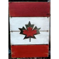 Wooden Canada Flag - Floating leaf by RockingHorse Past, $35 Past, Artisan, Flag, Canada, Leaves, Outdoor Decor, Handmade, Future, Instagram