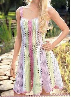 Belíssimo vestido de crochê, M |