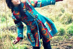 Shawl Collar Navajo Pendleton Blanket Coat. $950.00, via Etsy. AMAZING