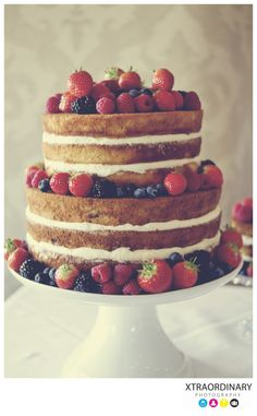 Bare wedding cake - angel food? I've never been a big fan of all that frosting anyway..