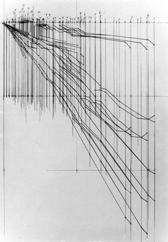 Josef Dabernig  Torvaianica - 1984, Drawing on coated Wood Fiberboard, in two parts, 260 x 205 cm