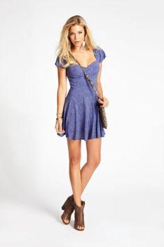 $35.00 Rayon Bandana Ditsy-Print Dress