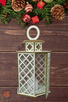 Laterne,Windlicht aus Holz Graviert Laser Cut Holzdeko Dekoration Deko Weihnachten.Die perfekte Laterne für gemütliche Stimmung bei vielen Gelegenheiten.