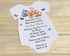 Winne The Pooh Baby Shower Invitation by RSVP Custom Creations Printable Baby Shower Invitations, Baby Shower Invites For Girl, Baby Shower Fun, Baby Shower Cakes, Baby Shower Parties, Baby Shower Themes, Baby Shower Decorations, Baby Shower Gifts, Shower Ideas