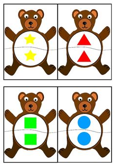 cheznounoucricri - Page 2 Bears Preschool, Kindergarten Math, Preschool Activities, Math Games, Learning Activities, Play Based Learning, Kids Learning, Bear Theme