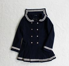 Woolen pleated skirt bow sailor coat free shipping