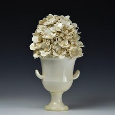 Michael Boroniec Bouquet White I Earthenware, Glaze x 8 x 8 in. / x x cm Courtesy of Lyons Wier Gallery, New York Sculpture Art, Sculptures, Floral Bouquets, Earthenware, Contemporary Artists, Ceramics, Tableware, Glaze, York