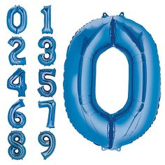 5d15b3598b50e 34in Blue Number Balloon (0) Party City Party City Balloons, Helium Tank,