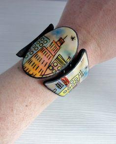bracelet, polymer clay, by KlickArt