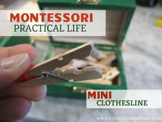 DIY Mini Clothesline to work Fine Motor Skills and other Practical Life Skills
