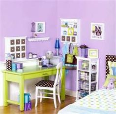 lavender and green room