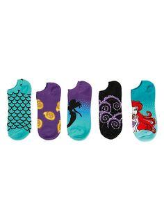 Disney The Little Mermaid Ariel No-Show Socks 5 Pair,