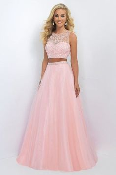 2016 Blush Prom 11022 Fancy Beaded Two Piece Tulle Gown Sale Prom Dresses Two Piece, Cute Prom Dresses, Grad Dresses, Two Piece Dress, 15 Dresses, Dance Dresses, Pretty Dresses, Homecoming Dresses, Beautiful Dresses