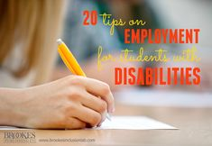 20 Tips on Preparing Students with Disabilities for Employment | special education, special needs, inclusion, disability, careers